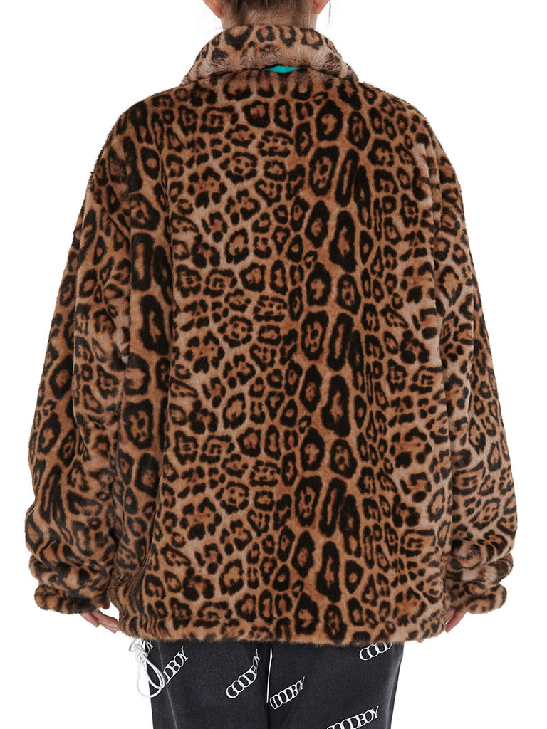 Oversized Leopard Fur Jacket - Season Seven NYC
