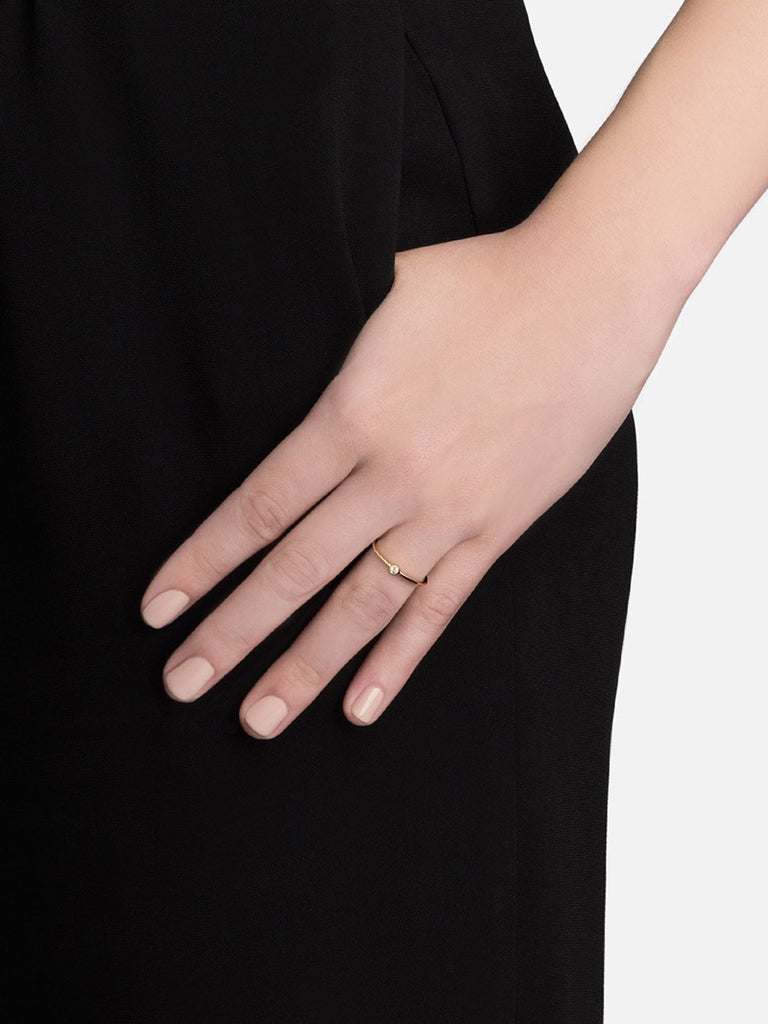 Iris Ring, 14k Gold Pavé - Season Seven NYC