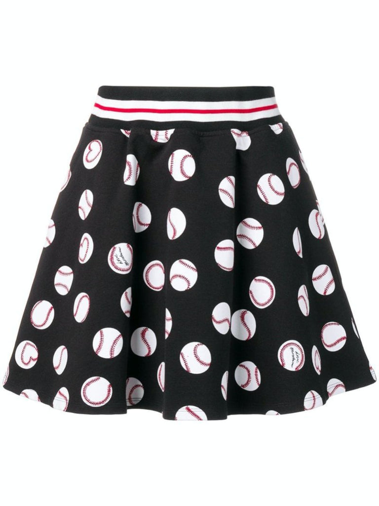 Black baseball printed skirt - Season Seven NYC