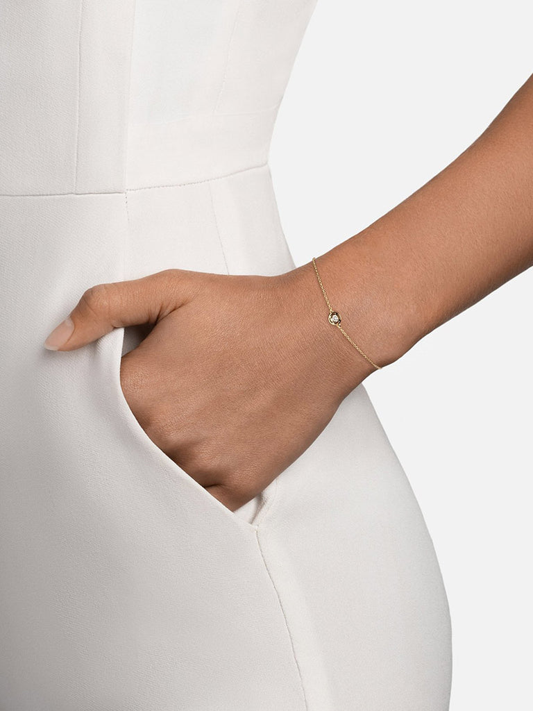 Luna Bracelet, 14K Gold/Diamond - Season Seven NYC