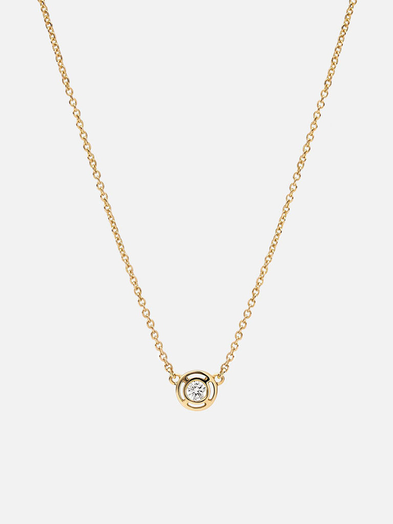 Luna Necklace, 14K Gold/Diamond - Season Seven NYC