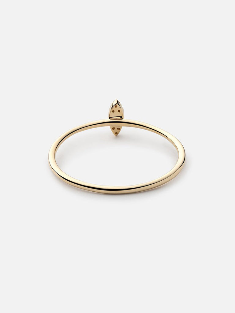 Marquise Ring, 14k Gold Pavé - Season Seven NYC