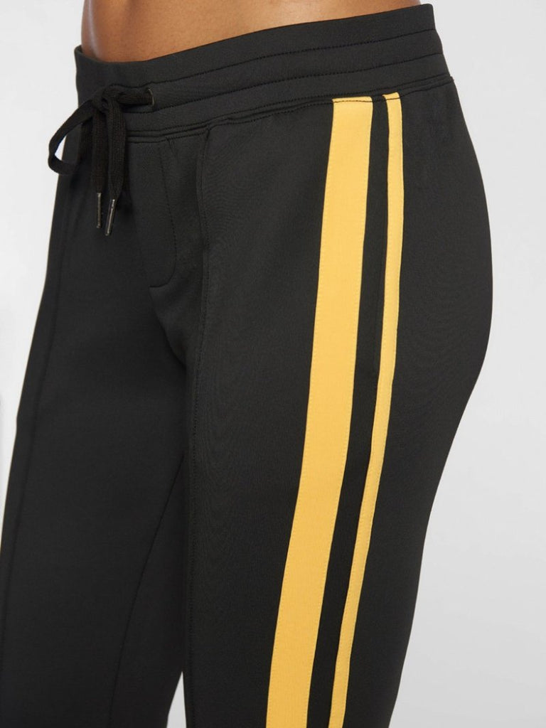 Cropped Track Pant With Sport stripes Black - Season Seven NYC