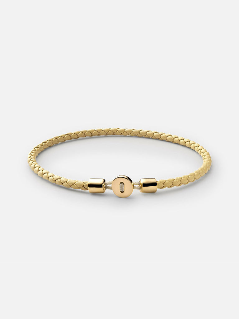 Nexus Leather Bracelet, Gold Vermeil - Season Seven NYC