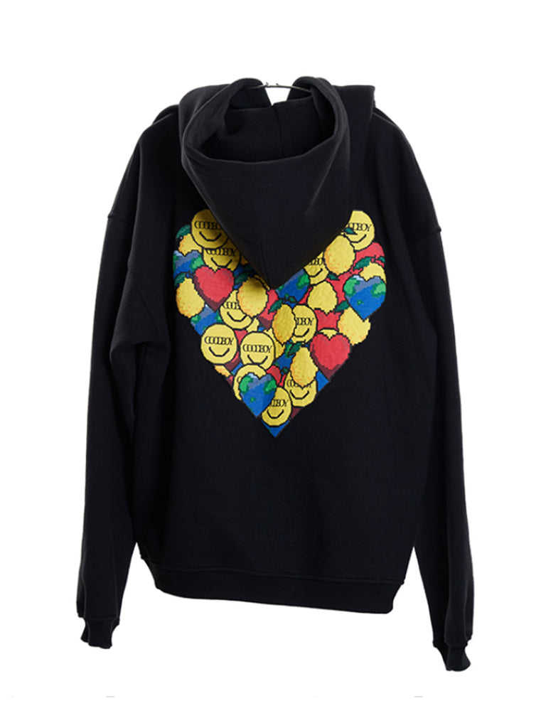 Oversized Heart Graphic Hoodie [Ship Imdiately]