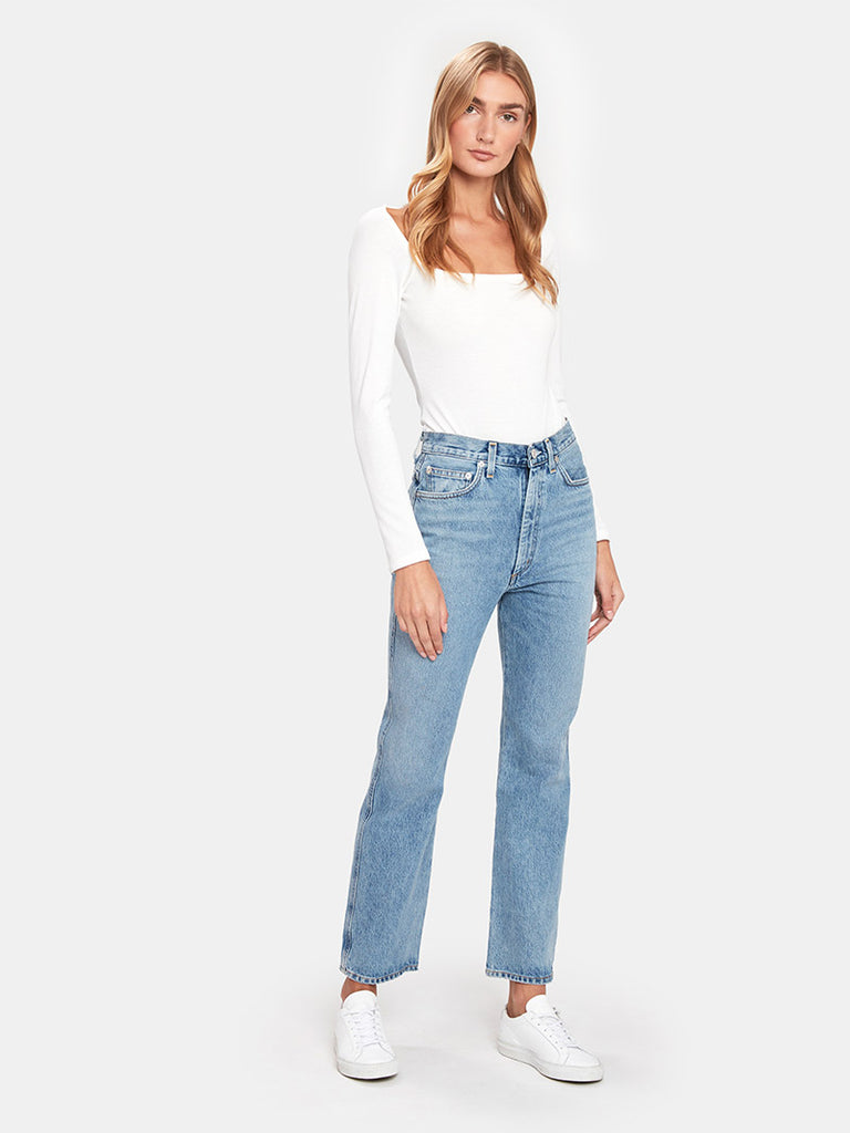 Pinch Waist High Rise Kick Flare Jeans - Season Seven NYC