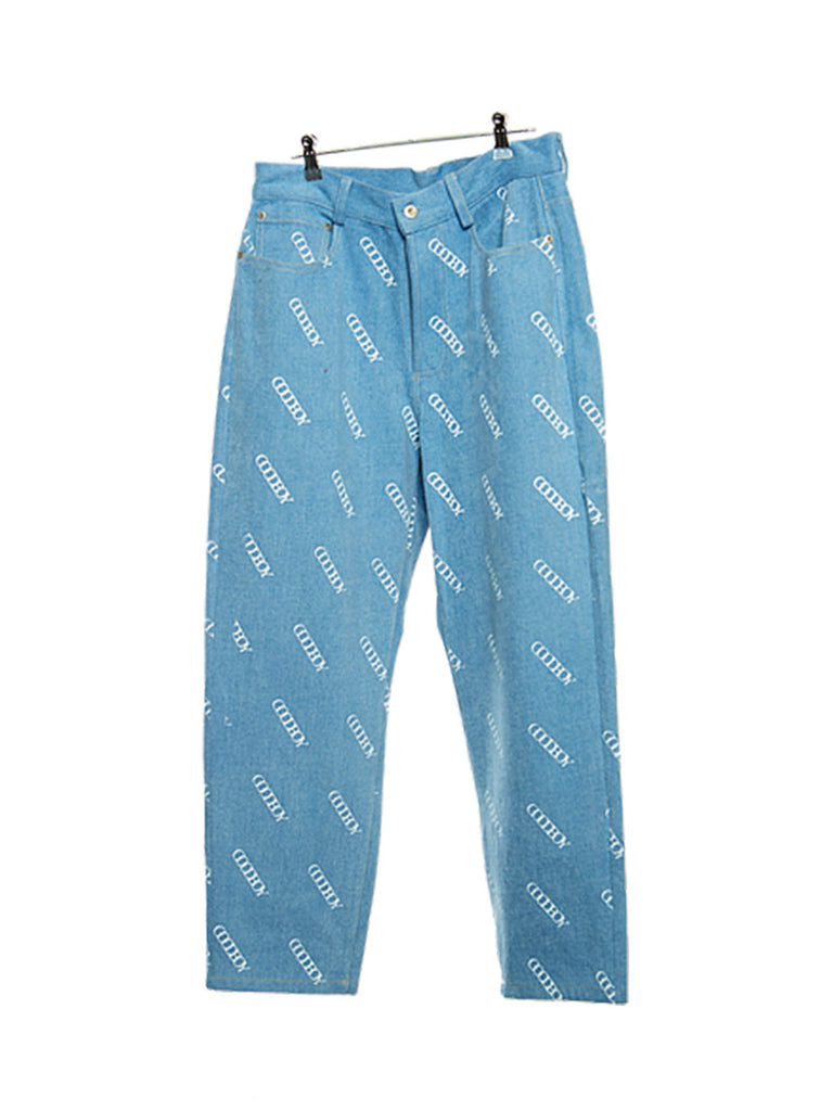 Printed Denim Pants [ship immediately!]