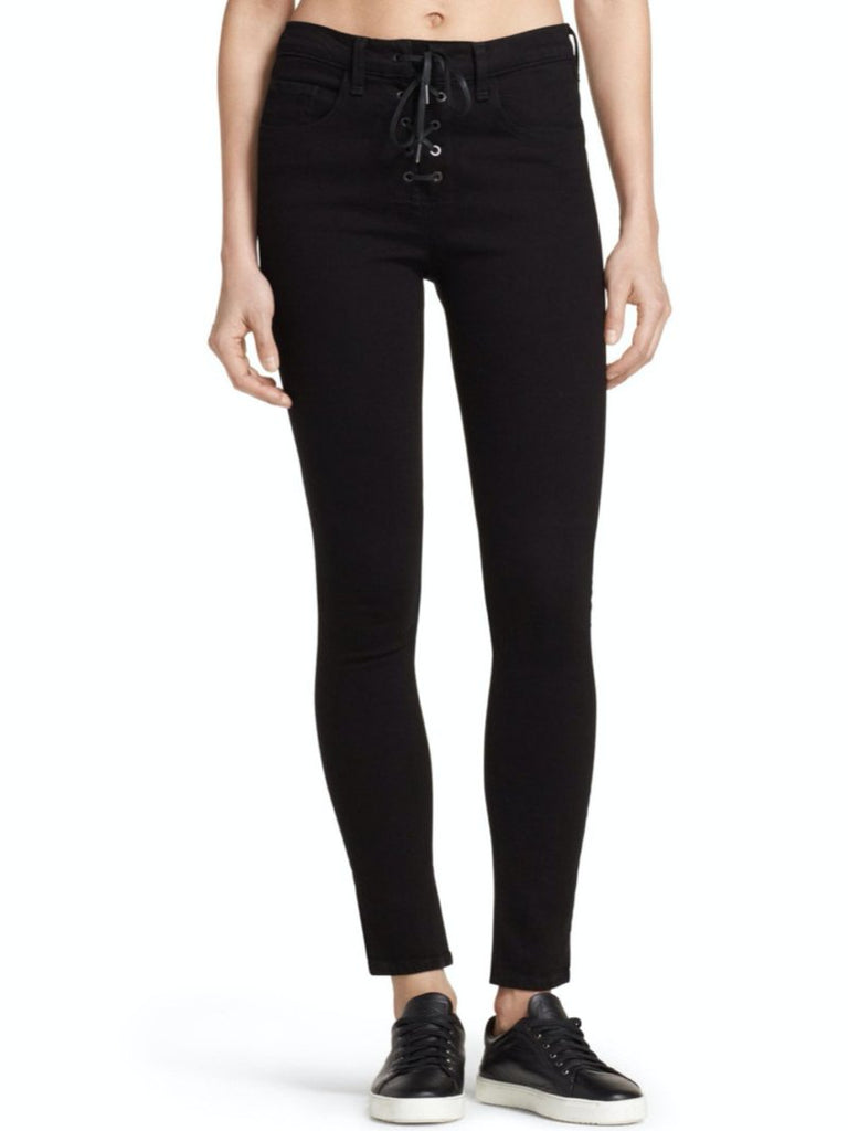 Gia High-Rise Lace-Up Skinny Jeans - Season Seven NYC