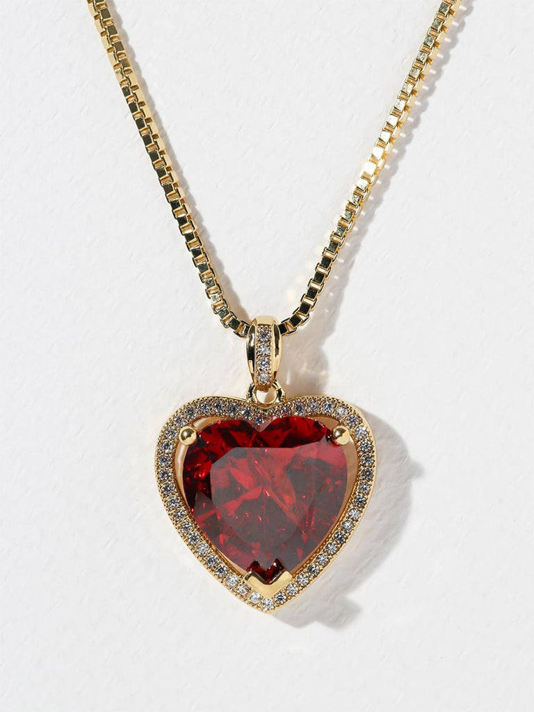 THE RUBY HEART NECKLACE - Season Seven NYC