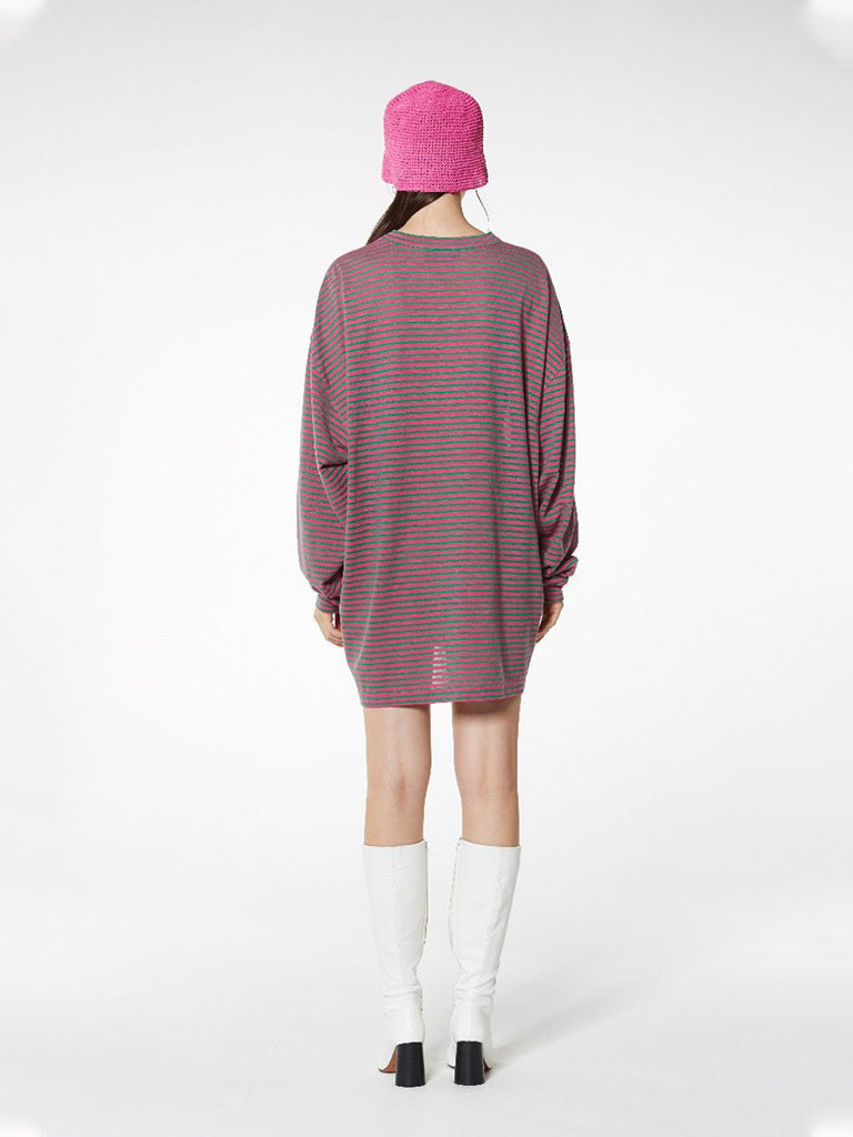 STRIPED TOWERL L/SLV TEE - Season Seven NYC