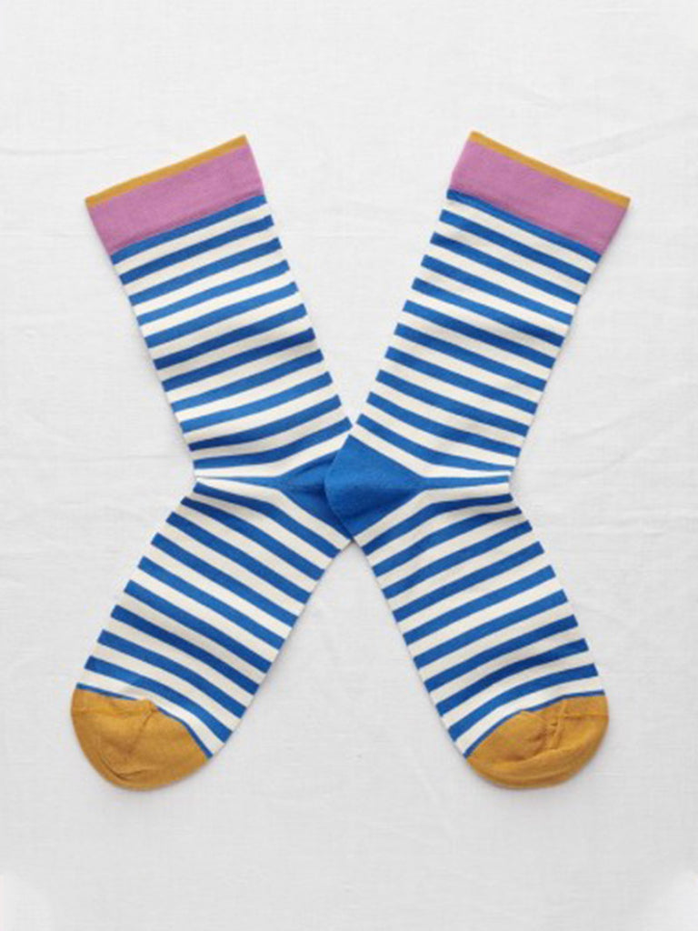Socks Cobalt Stripe - Season Seven NYC