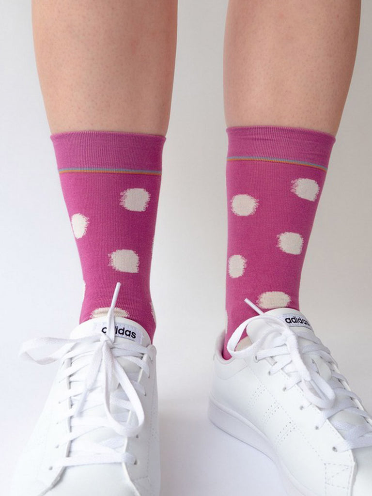 Socks Orchid Polka Dot - Season Seven NYC