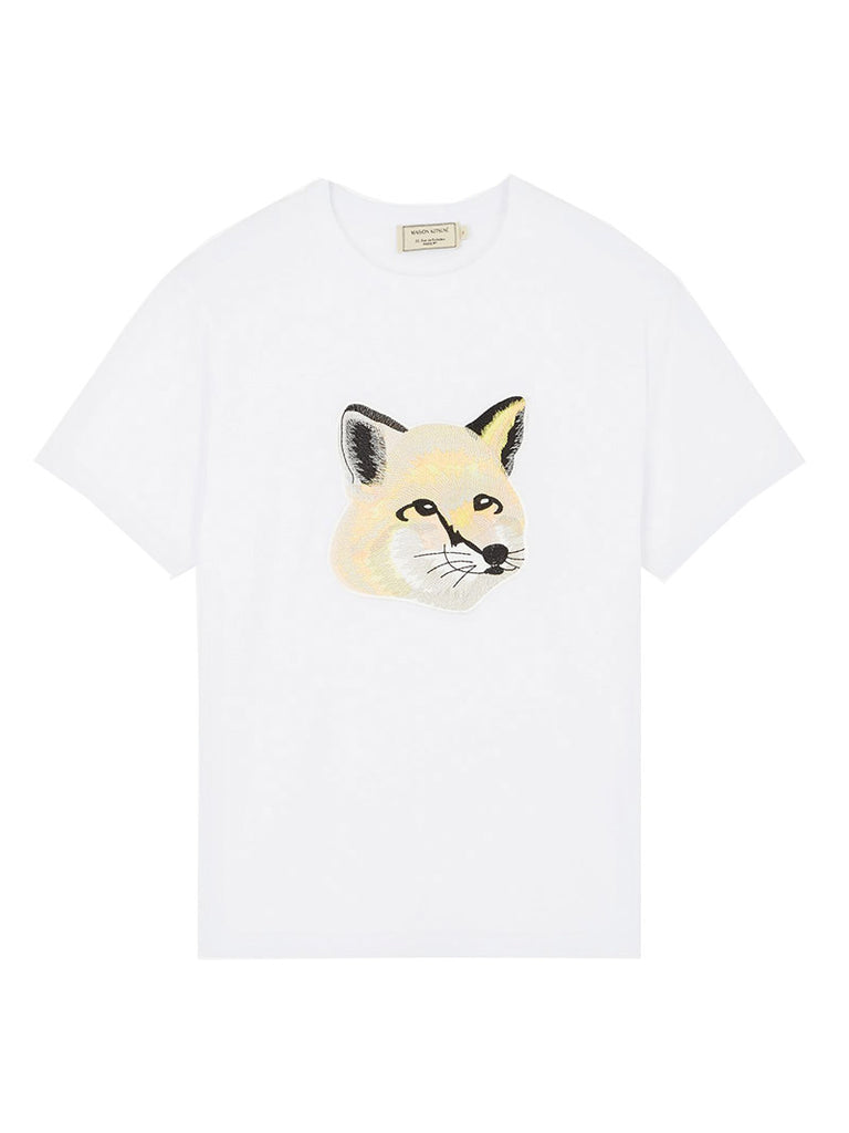 TEE-SHIRT PASTEL FOX HEAD EMBROIDERY - Season Seven NYC