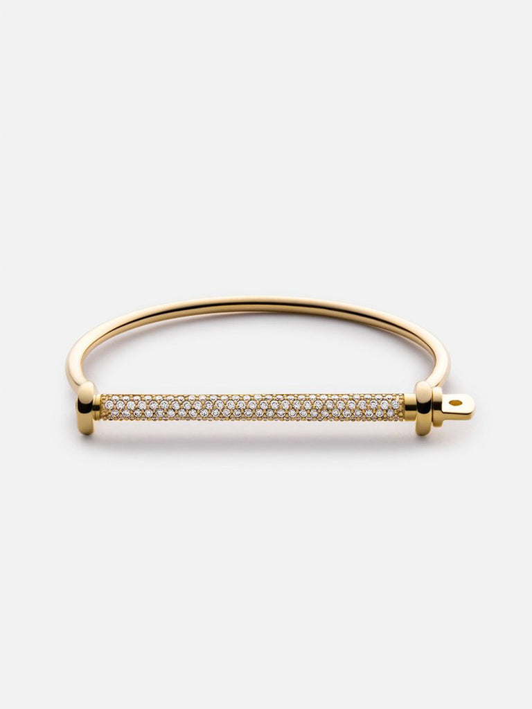 Thin Screw Cuff, Gold Vermeil/Sapphire - Season Seven NYC