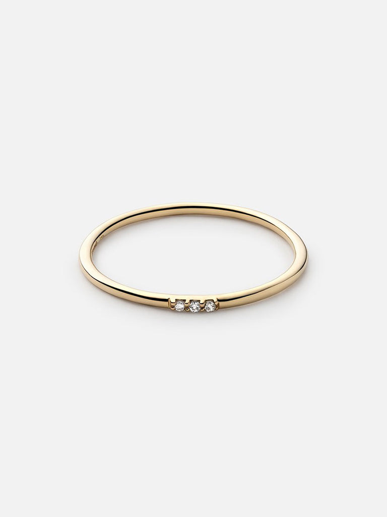 Trinity Ring, 14k Gold Pavé - Season Seven NYC