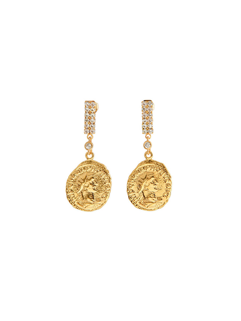 Warrior Coin Earrings - Season Seven NYC