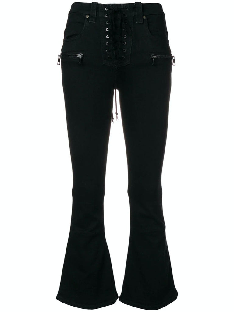 Unravel Project Flared Cropped Jeans