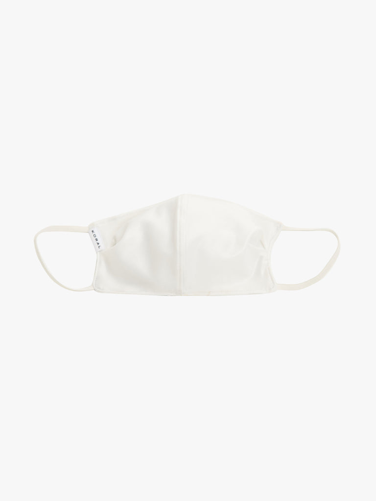 Shiny Netz Face Mask in White - Season Seven NYC