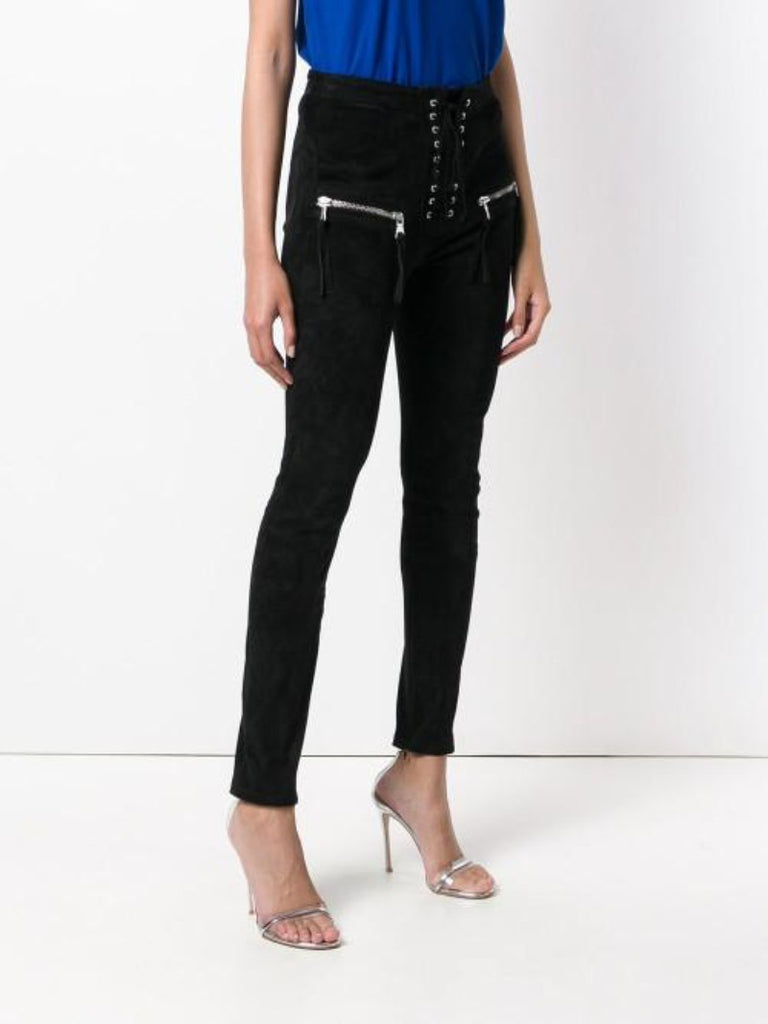 Unravel Project Lace-up High Waist Trousers - Season Seven NYC