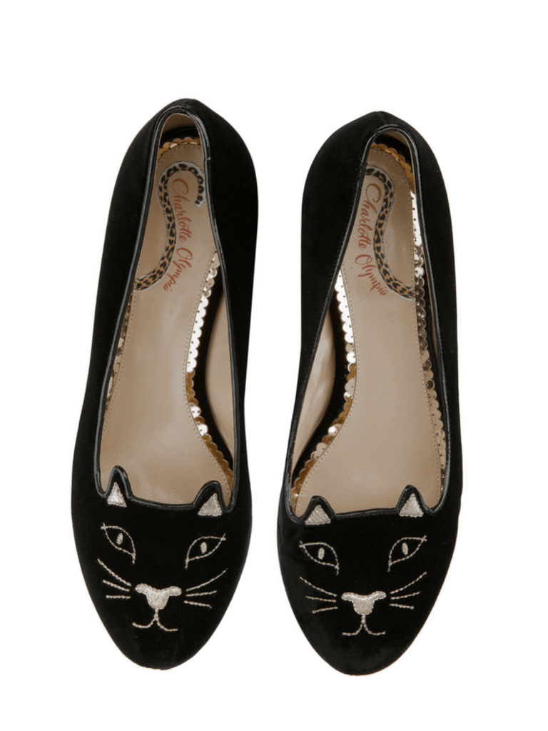 Black Velvet Kitty flats - Season Seven NYC