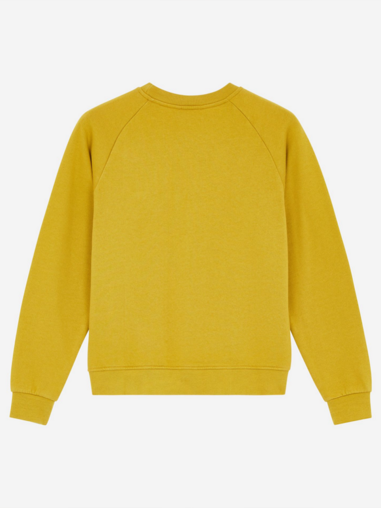 MAISON KITSUNE SWEATSHIRT TRICOLOR FOX PATCH MUSTARD - Season Seven NYC