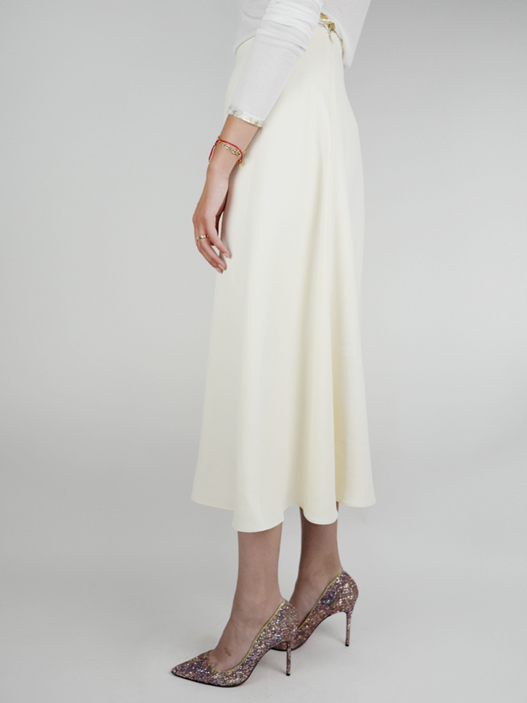 Theory Cady Long Full Skirt Cream - Season Seven NYC