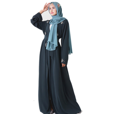 Beaded Wrap Abaya