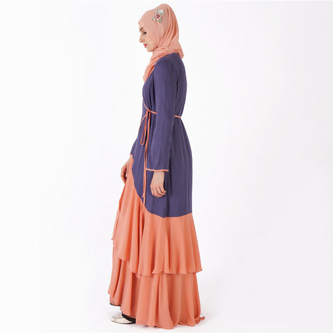 Draped Angrakha Abaya - Divasty