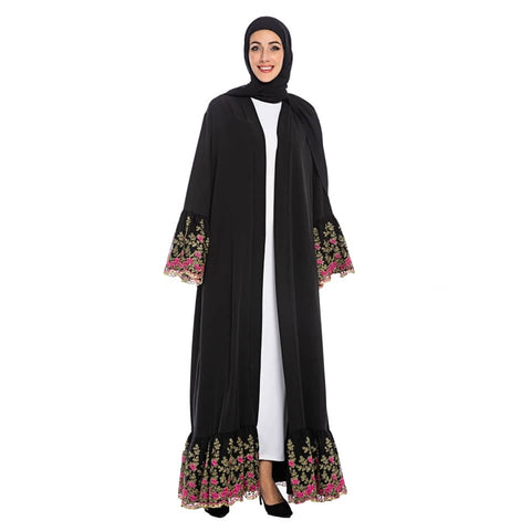 Divasty Floral Embroidered Abaya