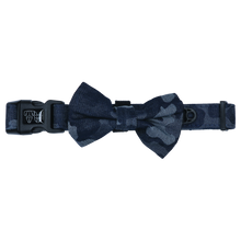 Load image into Gallery viewer, Denim Camp Collar and Bow Tie
