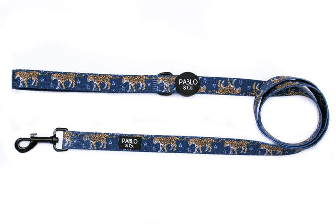 Midnight Cheetah Leash