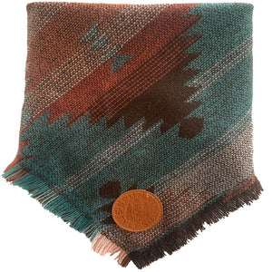 Wild Indian (Brown) Frayed Bandana