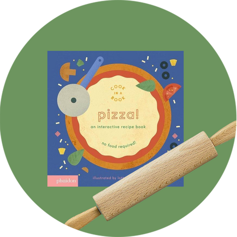 Pizza Interactive Recipe Book + Children's Rolling Pin