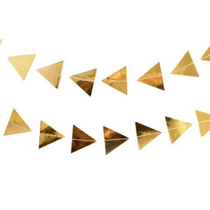 Gold Triangles Garland Geometric Banner