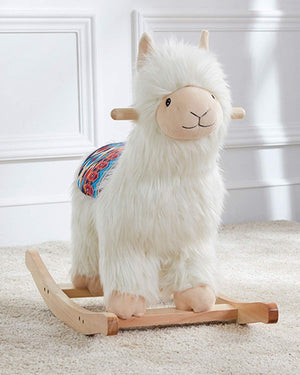 Alpaca Soft Plush Ride-On Rocker