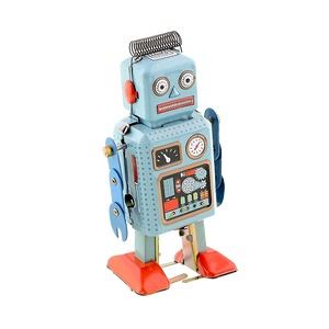 Robot Metal Tin Vintage Style Windup Toy