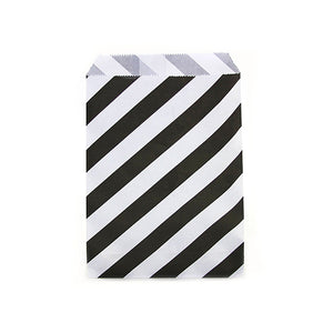 White and Black Striped Favor Bags