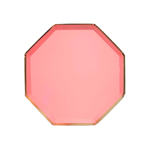 Neon Coral Side Plates