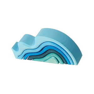 Water Waves Nesting Wooden Blocks