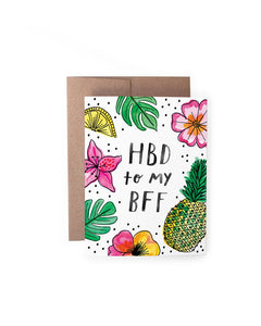 Handzy Shop + Studio - HBD BFF Card