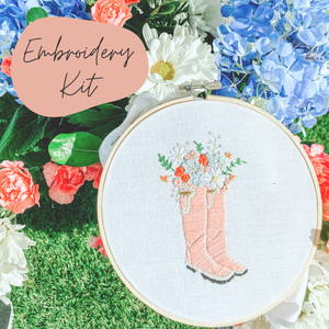 Sunday Mornings Shop - Intermediate Embroidery Kit | Garden Boots