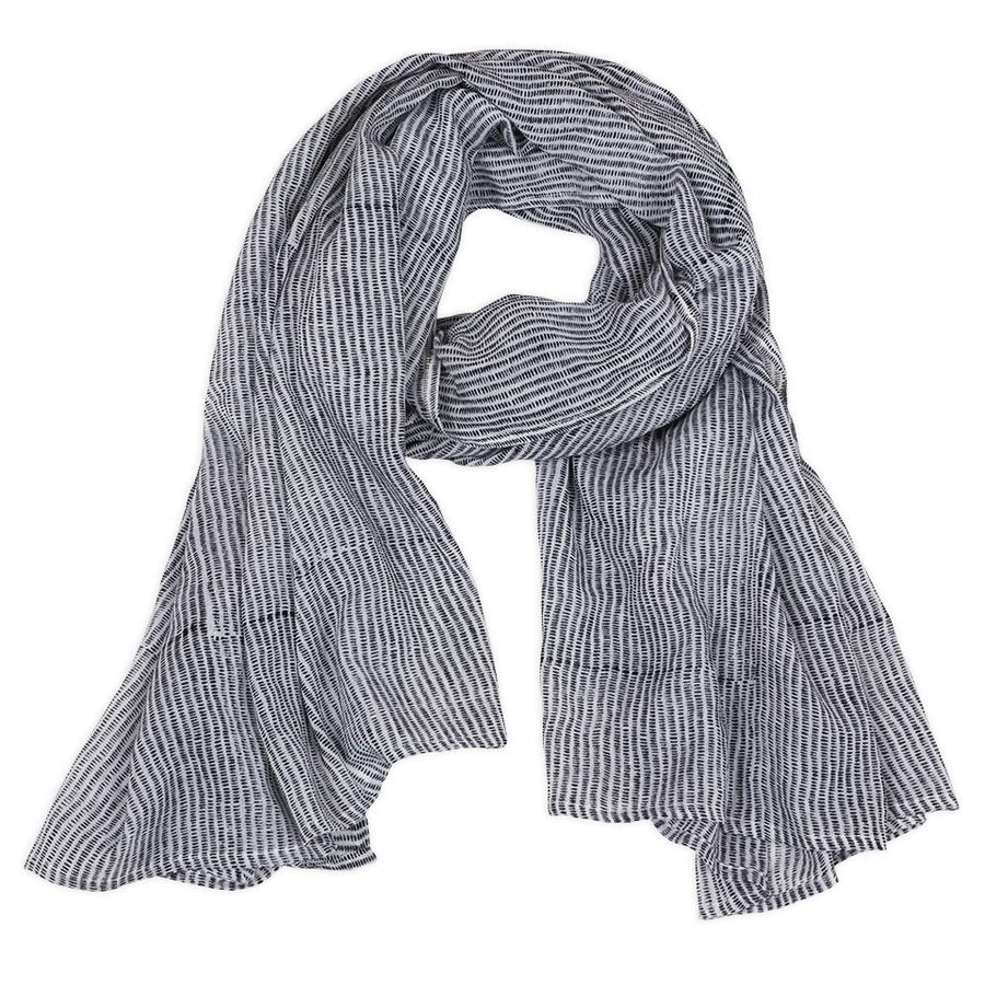 Graymarket Design - Alice Stripes Black Scarf