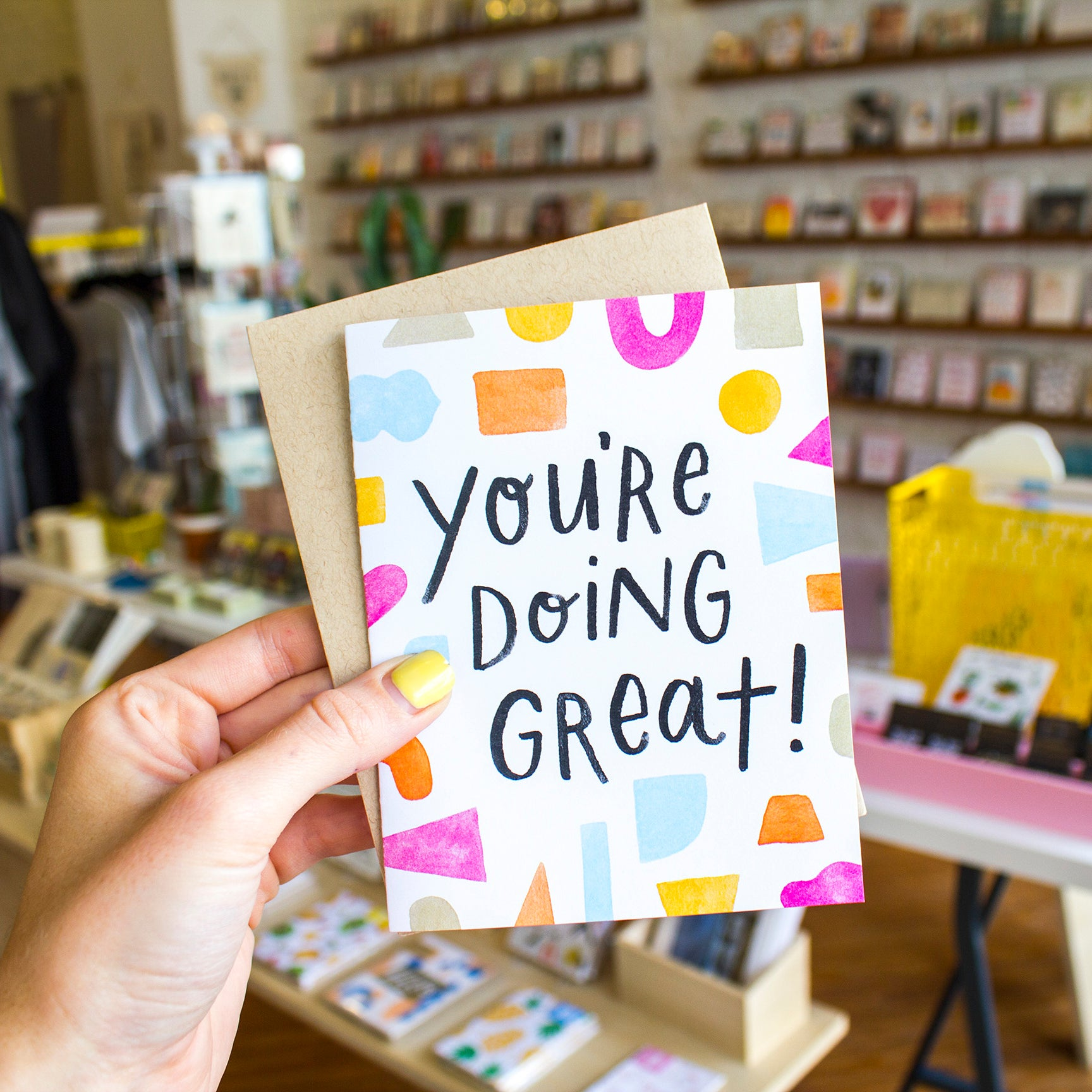 Handzy Shop + Studio - You're Doing Great Shapes Card