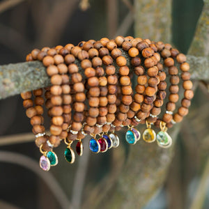 HorseFeathers Jewelry & Gifts LLC - True Original - Olive Wood Birthstone Bracelet