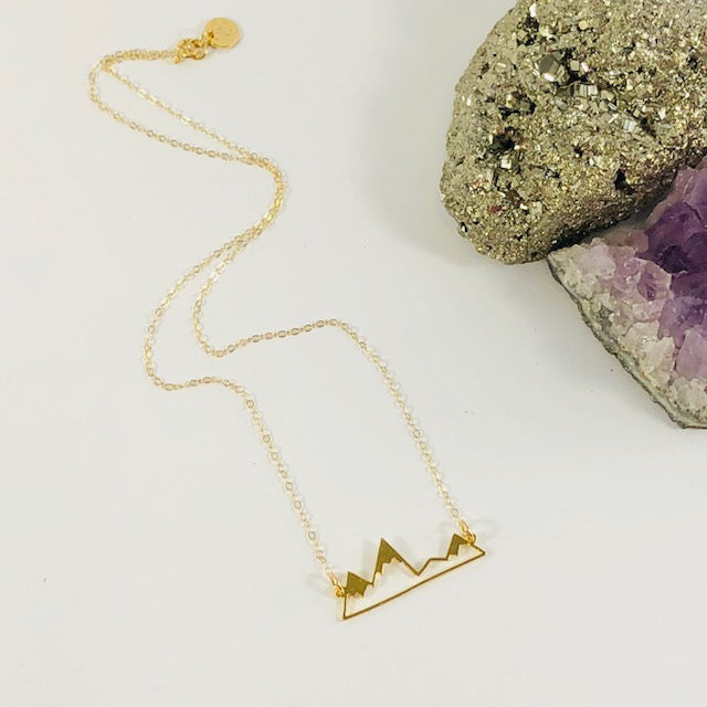 Sarah Belle - Mountains Charm Necklace