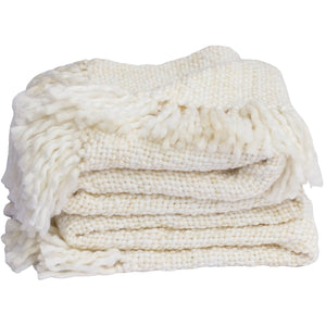 Tajik  Home  LLC - Marled Basketweave Plush Knit Throw