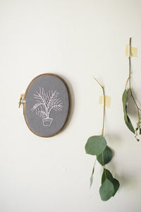 Thistle & Thread Design - Palm Embroidery Art