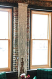 8 Foot Tall Hand Knotted Macrame Wall Hanging