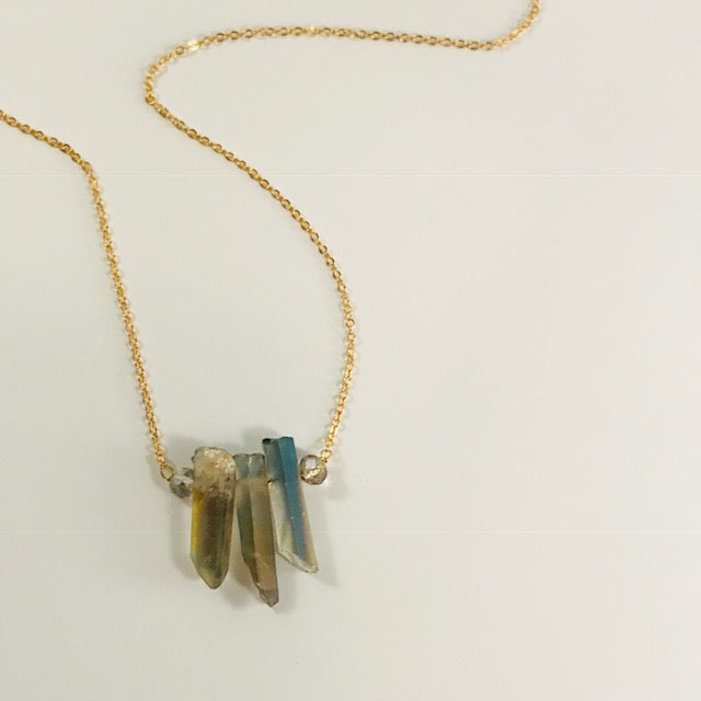 Sarah Belle - Quartz Crystal Spike Necklace