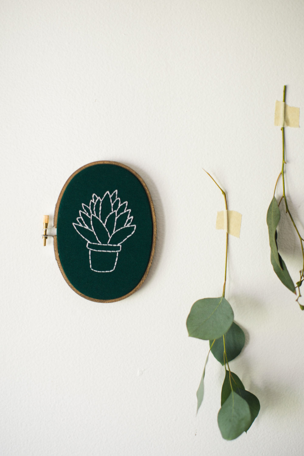 Thistle & Thread Design - Torch Plant Embroidery Art